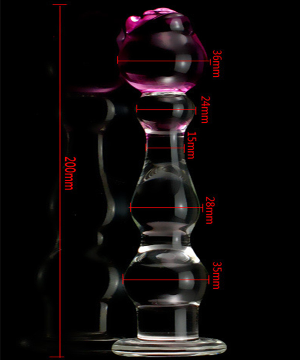 Glass Penis Dildos Anal Pleasure Butt Plug Anus Beads In Adult Games For Couples,Erotic Sex Toys For Women And Men Gay -20*3.6cm multi speed vibrating anal beads butt plug in adult games for couples erotic anus pleasure sex products toys for women and men