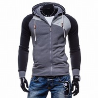 LaMaxPa 2017 Fashion Brand Sweatshirts Men Zipper Hoodies Patchwork Slim Men S Sportswear Men Coat XXL