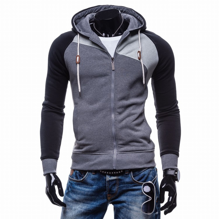 LaMaxPa 2018 Fashion Brand Sweatshirts Men zipper Hoodies Patchwork Slim Men's Sportswear Men Coat XXL