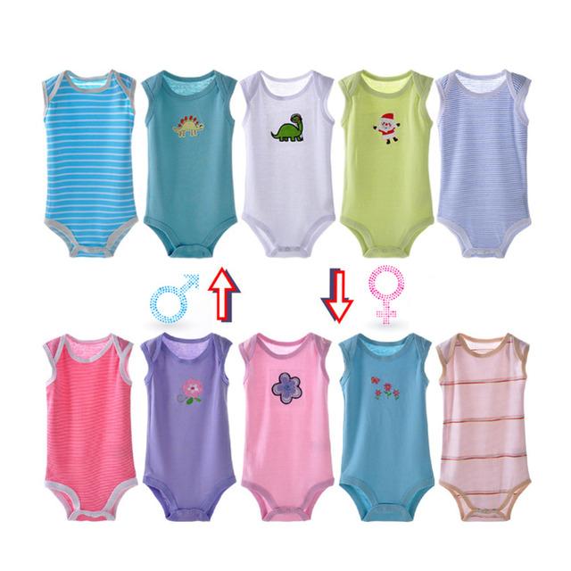 5 pçs/set Novo 2016 Infantil Do Bebê Do Menino Meninas 100% Algodão Dos Desenhos Animados Bodysuit Bebê Recém-nascido Bonito Um Pedaços Do Corpo Roupas Macacão Barato Z1