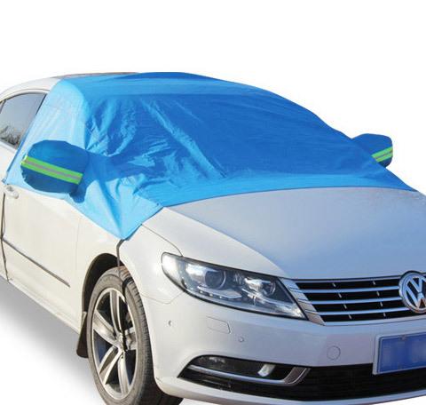 Azul Medio Cubiertas Del Coche Sombrilla Lámina Impermeable Espesar Nieve Escudo Coche Anti-UV Protección Nieve Cubiertas Para Automóviles