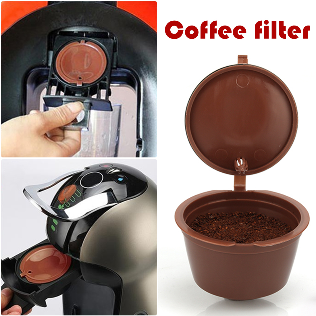 Coffee Dolce Gusto Capsule Plastic Reusable Refillable Compatible Dolce Gusto Coffee Filter Baskets Capsules Coffeeware