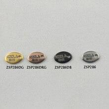 Лазерная гравировка с логотипом, цветные эллиптические гладкие этикетки из нержавеющей стали 200-500 шт./лот, Ювелирная часть ZSP286DG