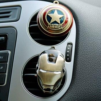 Désodorisant clip climatisation parfum respirant Avengers Marvel Spider homme fer homme ventilateur capitaine Van voiture modèle