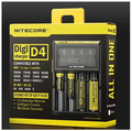 10pcs/lot Original Nitecore D4 Digcharger Battery Charger LCD Display Universal Nitecore Charger + Retail Package Free Shipping