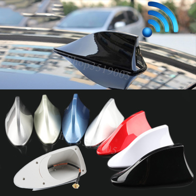 For Seat Ibiza ST Leon 2 3 Cupra Alhambra Altea Ateca Exeo Toledo 2 Car Shark Fin Antenna Signal Aerials car Sticker Accessories(China)