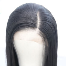 Bombshell peruca de cabelo sintético para mulheres, preta rosa branco, sem cola, reta, resistente ao calor, fibra natural