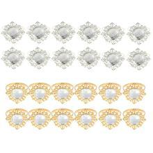 12 шт акриловый Алмазный дизайн кольцо для салфеток украшение для ужина
