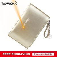 Taomicmic Original Wallets Women PU Leather Coin Purse Design Female Card Holder Wallet Small Purse Coin Walet Drop shipping