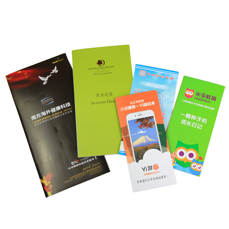 OEM Printing Services For All Kinds Company Tri Fold Leaflet With Custom Design