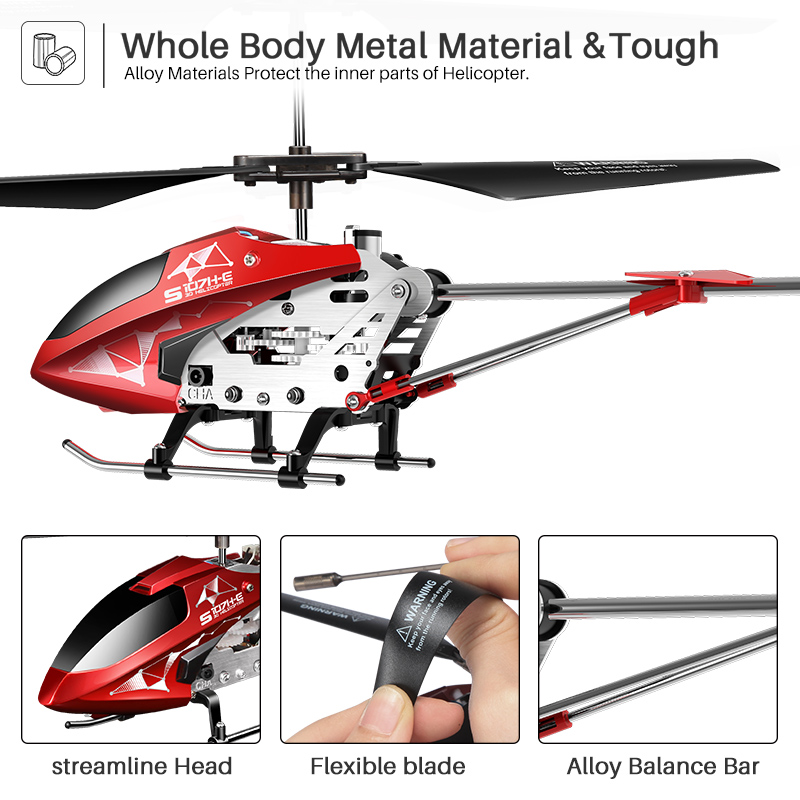 Image 5 - SYMA S107H RC helicopter Remote Control 3.5ch Kid hobbies mini RC flying toy with Gyro for Indoor Play Kids one key fly plane-in RC Helicopters from Toys & Hobbies