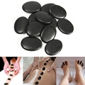Massage Stones.Natural Energy Stone Set Hot SPA Rocks Basalt Stone Therapy Stone Pain Relief Health Care Tool.3*4cm 12 pcsSize
