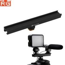 EasyHood Barra de soporte de riel para extensión de zapata fría y caliente para cámara, 20cm, 8 pulgadas, luz LED para vídeo, micrófono, ESE 20