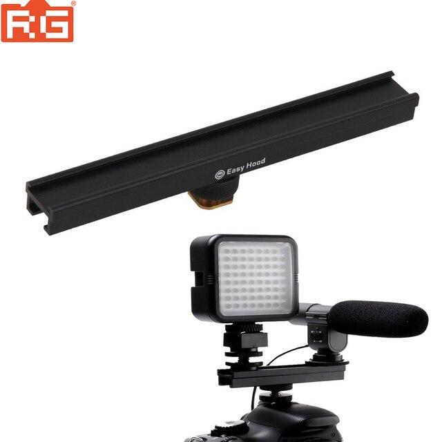 EasyHood ESE 20 20 cm 8 kamera do zimnego rozszerzenia wspornik szyny Bar dla lampa błyskowa LED lampa wideo mikrofon