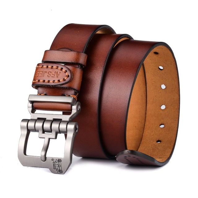 New Design Of Luxury Genuine Leather Pin Buckle Belts For Men. Available Colors -Reddish Brown, Black, Yellowish Brown, Dark Coffee