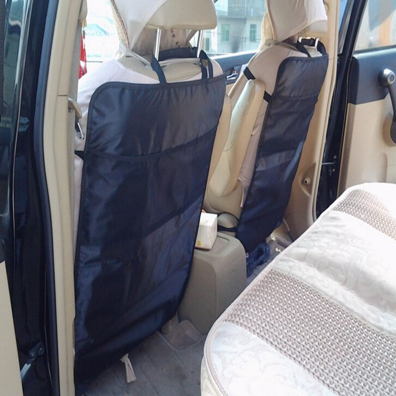 Vehicle Car Accessories Auto Seat Cover Back Protector For Children Kick Mat Storage Bags