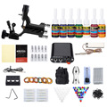 Beginner Tattoo Kit 1 Machine Solong Complete Tattoo Rotary Equipment Machine Gun Inks Set Power Supply Disposable Needles