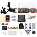 Principiante Kit de Tatuaje Máquina 1 Solong Completo Equipo Tattoo Rotary Machine Gun Tintas Set fuente de Alimentación Agujas Desechables