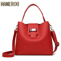 2017 Fashion PU Leather Handbags Women Tote Shoulder Bag Bucket Women Bag Luxury Designers Famous Brand
