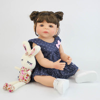 57cm Full Silicone Body Vinyl Reborn Girl Lifelike Baby Doll Newborn Princess Toddler Toy Bonecas Waterproof Birthday Gift