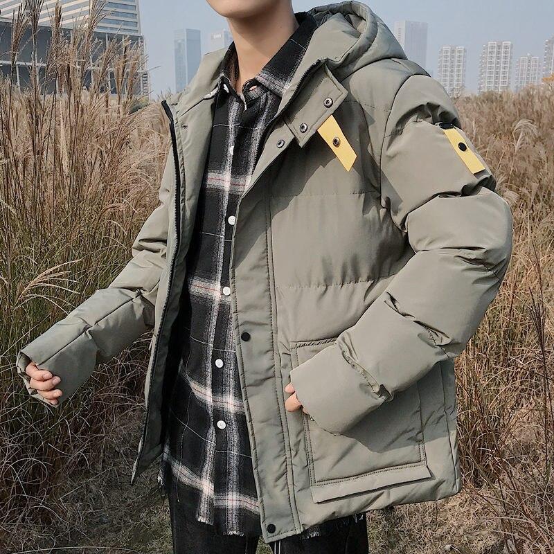 75b0de9c4 2019 New Men Winter Jacket Fashion Cotton Padded Jacket Hooded ...
