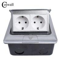 Manufacturer All Aluminum Panel EU Standard Pop Up Floor Socket 2 Way Electrical Outlet Modular Combination