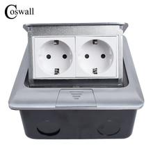 Coswall Tout En Aluminium Panneau Norme EUROPÉENNE Pop Up Étage Prise 2 Voies Prise Électrique Modulaire Combinaison Personnalisé Disponible