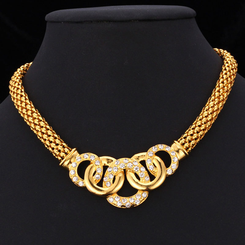 Kpop Chain Necklaces Collar Gold Color