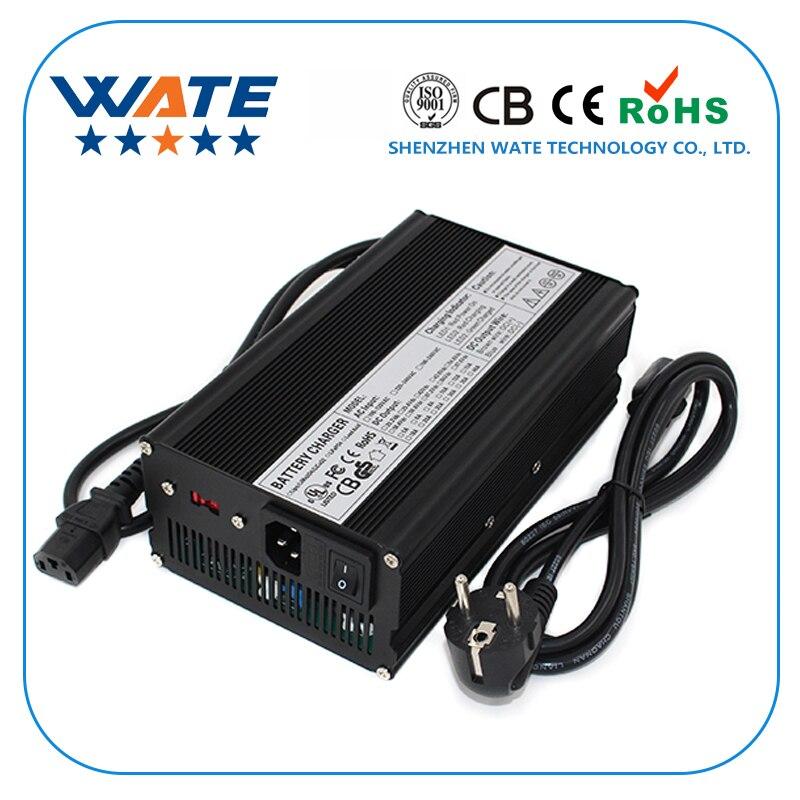 Cargador inteligente de batería Li-ion 84 V 5A 20 S 72 V Li-ion Lipo/LiMn2O4/LiCoO2 cargador de batería ancho voltaje con caja de aluminio del ventilador