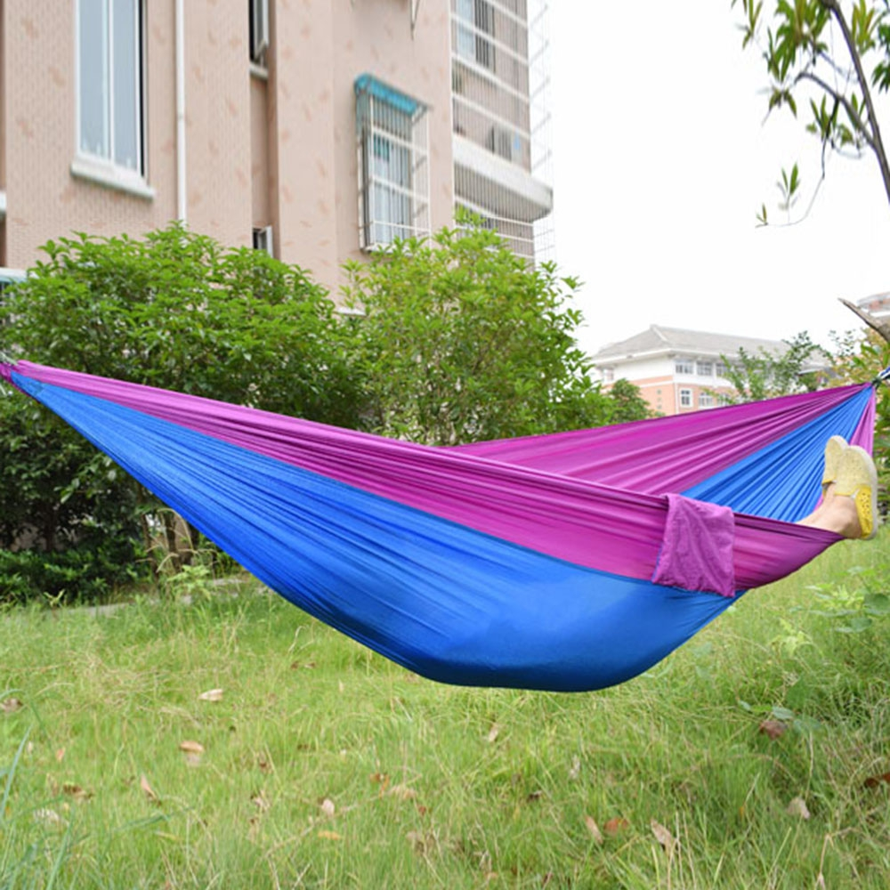 Outdoor One Person Assorted Color Parachute Nylon Fabric Hammock or fabric headgear color assorted