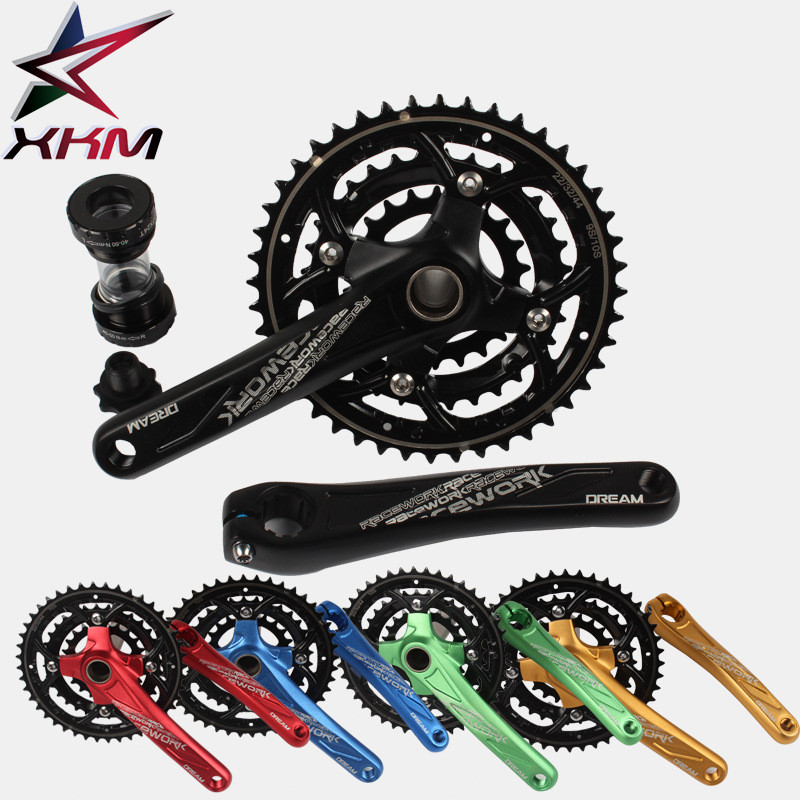 Bicycle Crank Chainwheel 104BCD 22-32-42T 27/30S Crank Alloy Aluminum MTB Bike Crank Set Sprocket Set Folding Bike Refitting aluminum alloy bicycle crank chain wheel mountain bike inner bearing crank fluted disc mtb 104bcd bike part