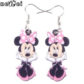 Cute Smile Mouse Long Earrings