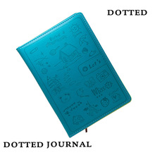 Hard Cover Dot Grid Candy Color A5 PU Notebook Elastic Band Creative Dotted Journal Bujo