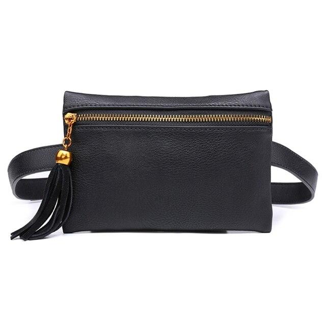 THINKTHENDO Waist Pouch Belt Bags Women Fashion Luxury Designer Tassel Trendy Fanny Pack Travel Wallet Case 2018 New Waist Bags