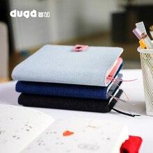 Cuaderno clásico de tela para oficina y escuela, papelería Vintage sin carpeta, diario para personas, planificador semanal, organizador de Agenda A5 A6