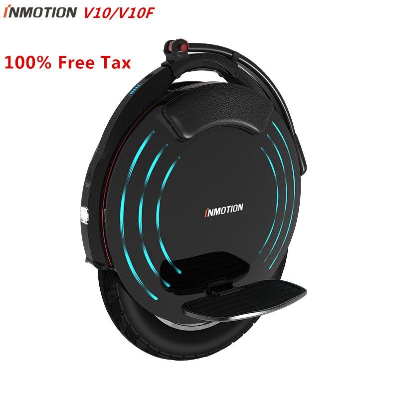 Original INMOTION V10/V10F auto équilibrage Scooter électrique monocycle intégré poignée EUC Monowheel Hoverboard avec lampes