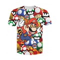 Mulheres/Homens de Moda Dos Desenhos Animados 3D Super Mario em T-Shirt tee droga psicodélica do Mario Shrooms mastigar os cogumelos mágicos Camisetas Tees