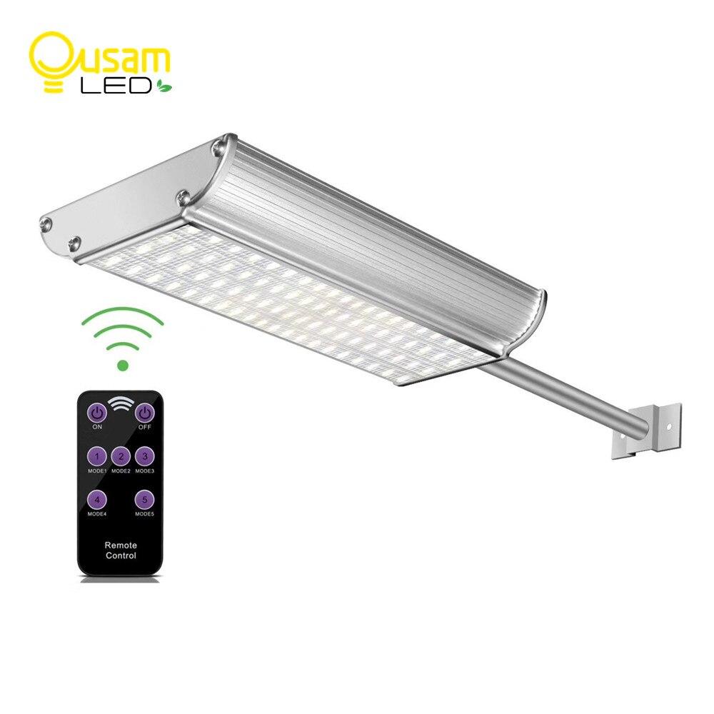 Lampes solaires pour L'extérieur Micro-ondes Motion Sensor 70 Led Solaire Lumière Télécommande Étanche Jardin Lumière Lampe De Wall Street