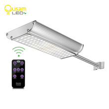 Outdoor Solar Powered Microwave Motion Sensor 70 Led Solar Light Remote Controller Waterproof Garden Light Wall Street Lamp