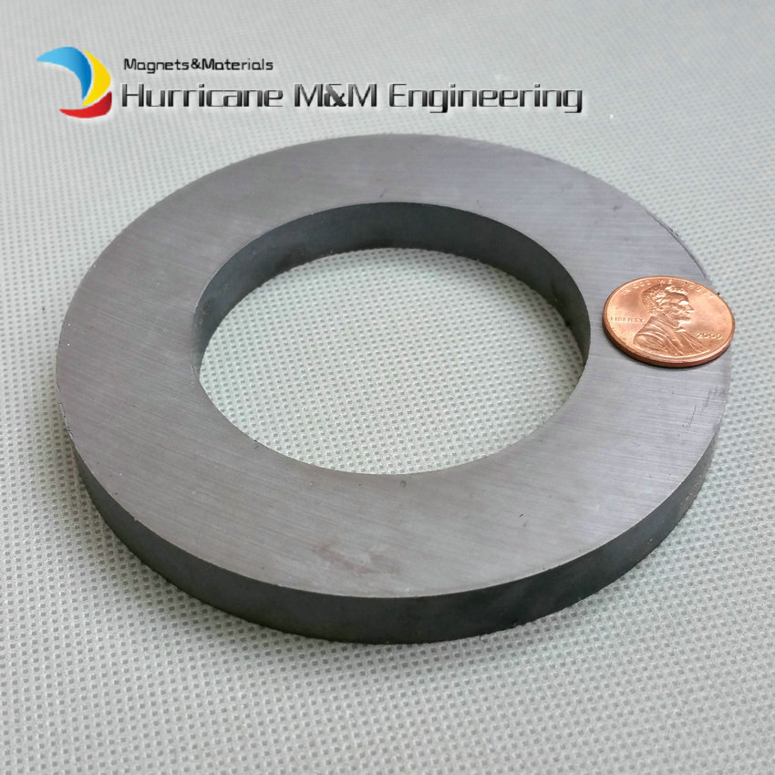 2pcs Ferrite Magnet Ring OD 100x60x10 mm for Subwoofer C8 Ceramic Magnetic levitation DIY Loud speaker Sound Box board home use 12 x 1 5mm ferrite magnet discs black 20 pcs
