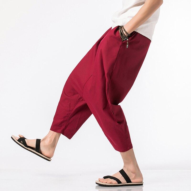 Knöchel Hosen Taille Baumwolle Mischungen Damen Elastisch Seite Neu