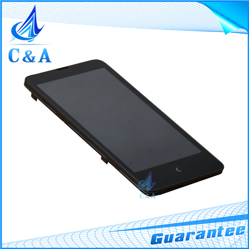 1 piece black free shipping replacement repair part 4 inch screen for Nokia X A110 lcd display with touch digitizer with frame