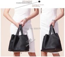 Women Genuine Leather Tote Bag Shopper Cabas Handbag Purse Shopping Hobo Basket Real Leather Designer H Lock Key Lunch Bucket S