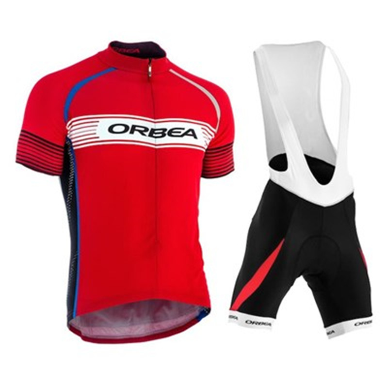 Quick Dry Cycling Jersey GEL Pad 2018 Orbea Mens Pro Team Short Sleeve Cycling Jersey Maillot Ropa Ciclismo Cycling Clothing