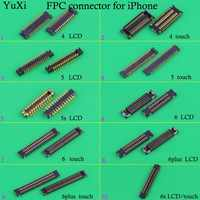 YuXi  For iphone 4  5 5S 6  6plus 6s LCD Display Touch Screen Digitizer Battery FPC Connector On Motherboard