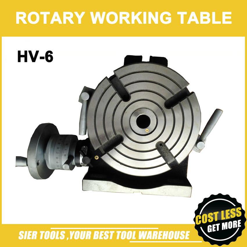HV 6 Vertical and Horizontal Rotary Working Table 150mm rotary table for milling machine