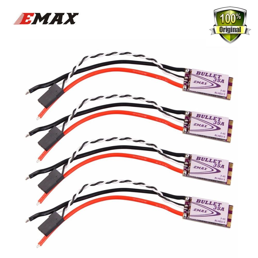 4pcs/lot EMAX Original New BLHeli-S DSHOT Bullet FPV ESC 6A 12A 15A 20A 30A 35A BLHeli S Speed Controller