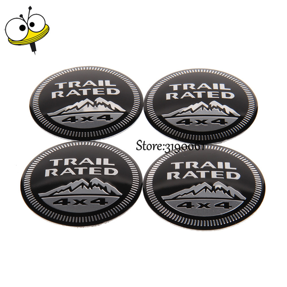 Car Styling Wheel Center Hub Caps Car Emblem For 4x4 Logo For Jeep Renegade Wrangler Grand Cherokee Compass Patriot Liberty car seat covers for jeep grand cherokee compass commander renegade wrangler peugeot 4007 4008 405 406 407 4085008 508 607 807
