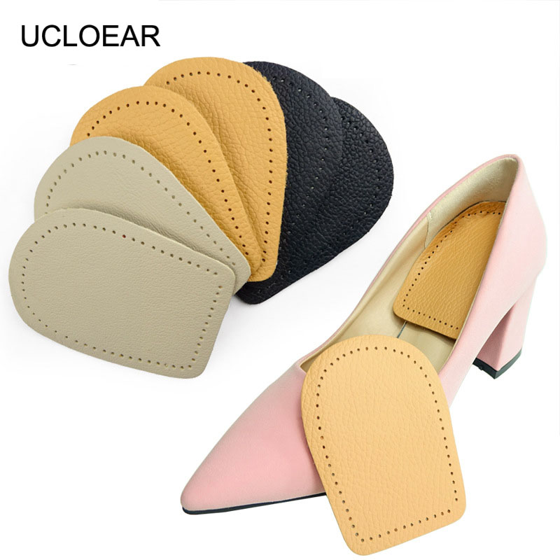 UCLOEAR Leather Insoles For Shoes Cushion Pad Heel Cushions Inserts Cushion Insoles Heel Support Liners Relieve Heel Pain