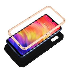 Image 4 - Оригинальный IMATCH Повседневный водонепроницаемый чехол для Xiaomi Redmi Note 7/ Pro Роскошный Металлический силиконовый чехол 360 полная защита чехлы для телефонов